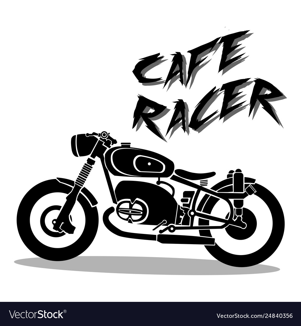 Cafe Racer Silhouette Vector Images 73