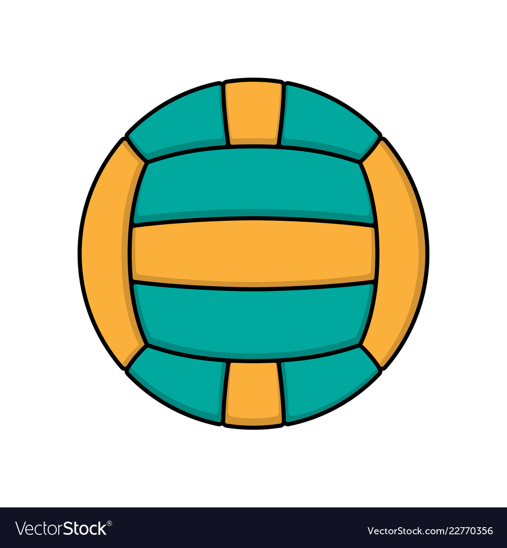 Volleyball color logo