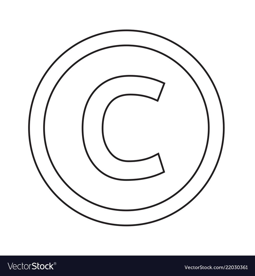 Basic font for letter c icon design