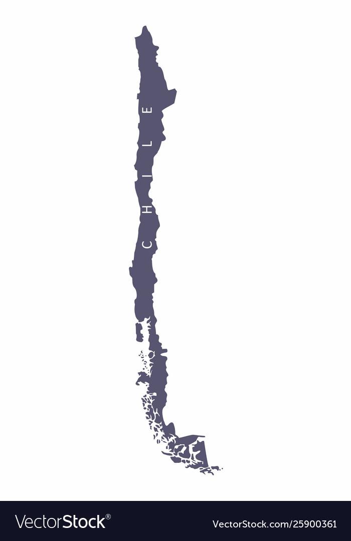 Chile silhouette map