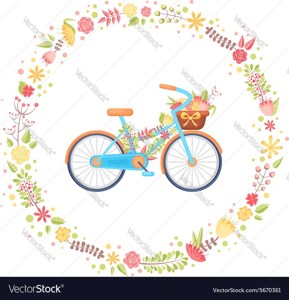 Colorful flat elegant bicycle