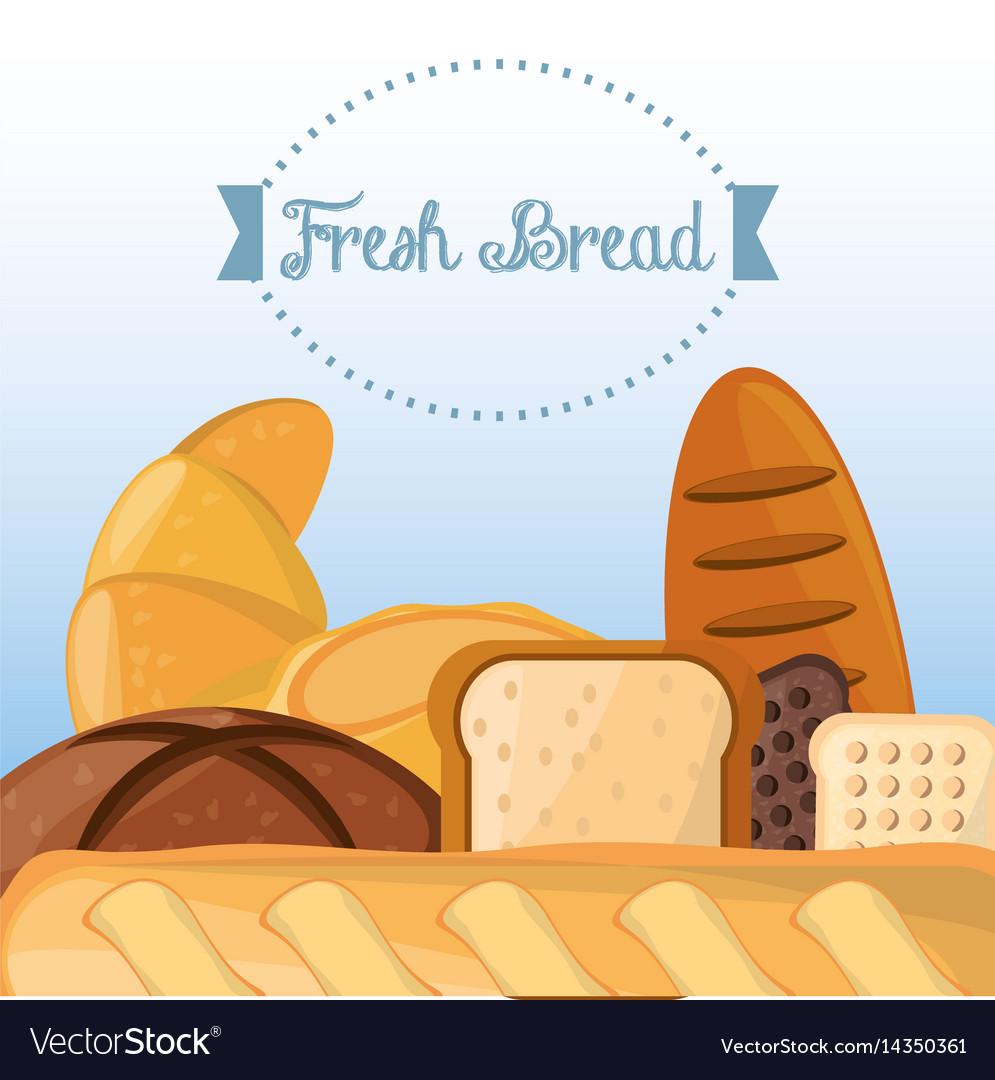 Fresh bread baking organic health food