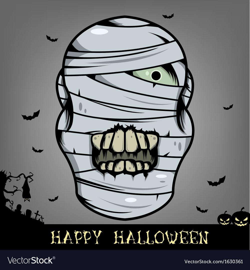 Halloween mummy head