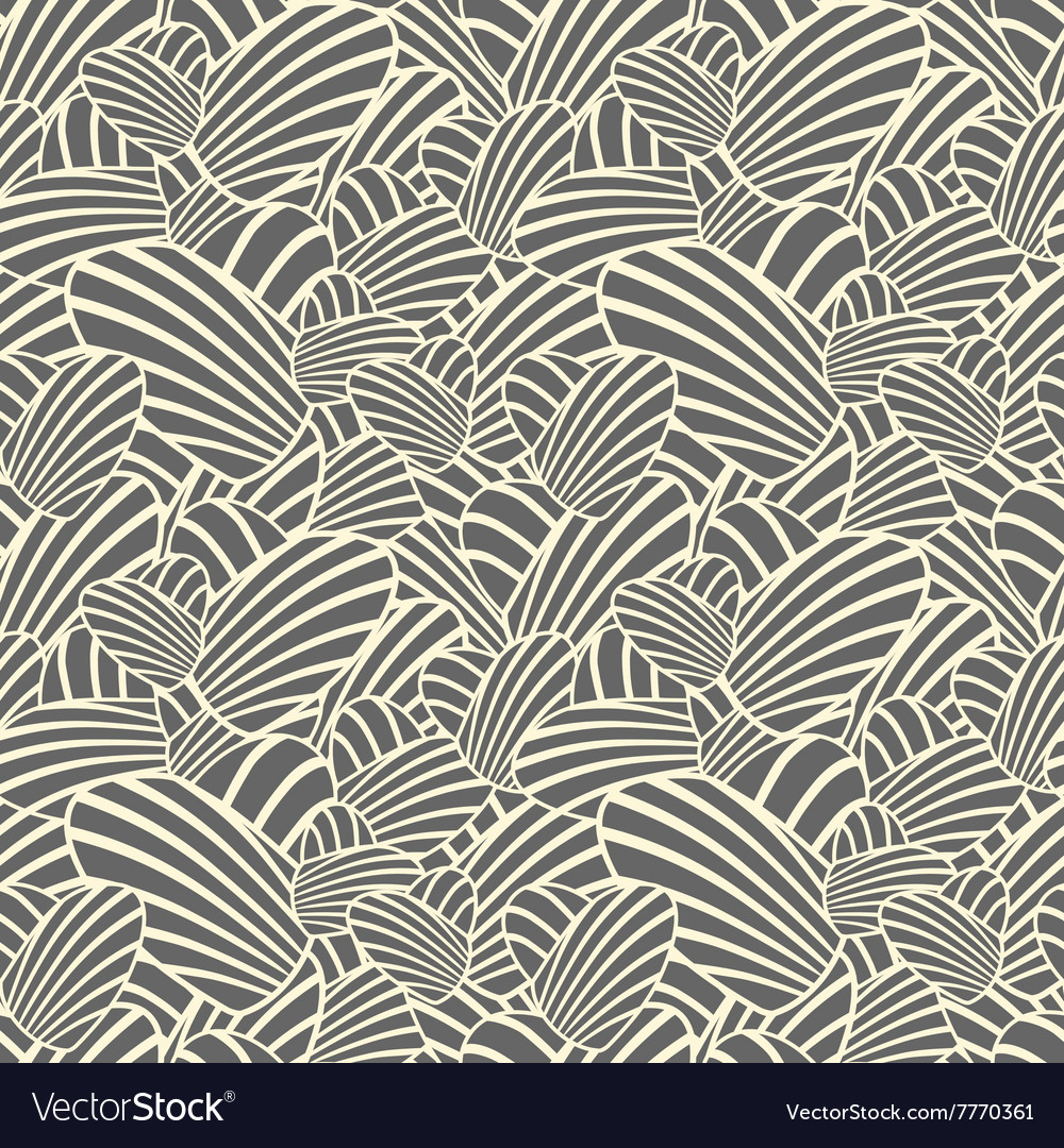 Heart stripes seamless background pattern
