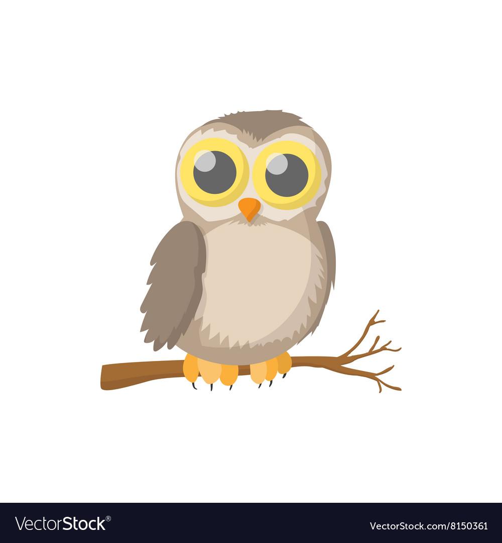 Owl icon cartoon style