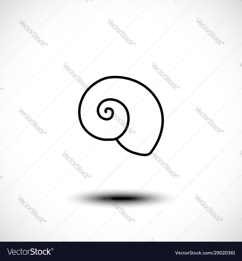 Sea shell line art icon