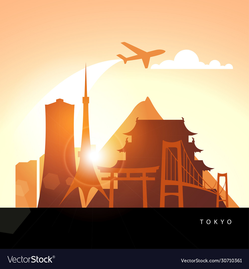 Tokyo detailed silhouette