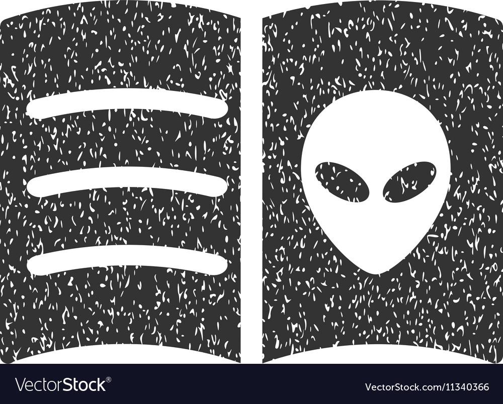 Alien Face Book Grainy Texture Icon