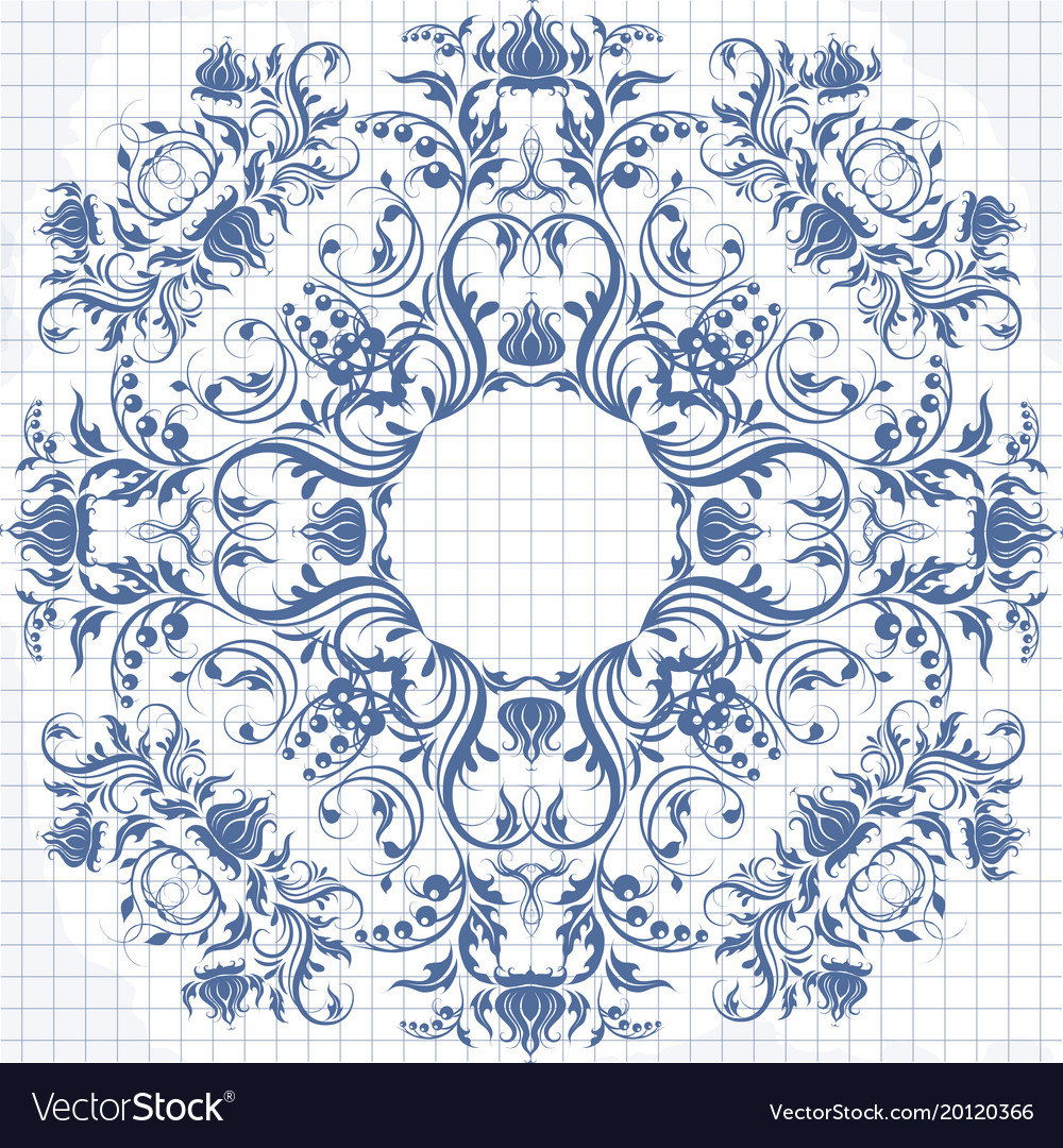Background of a notebook in a cage with elegant vector image