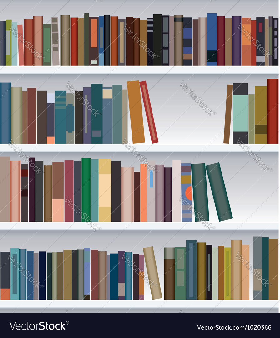 Bookshelf vector image Bookshelf Royalty Free Vector