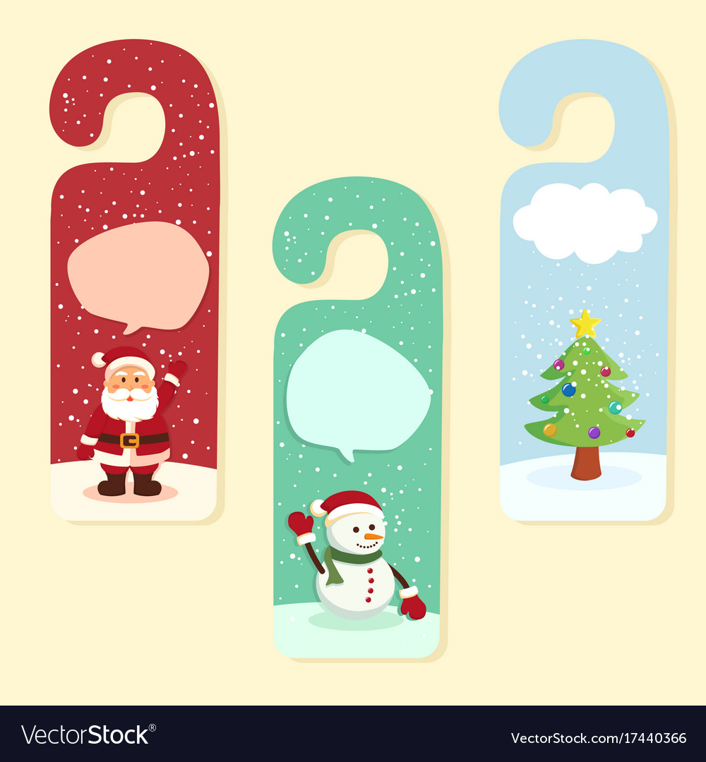 Christmas hanger greeting card Royalty Free Vector Image
