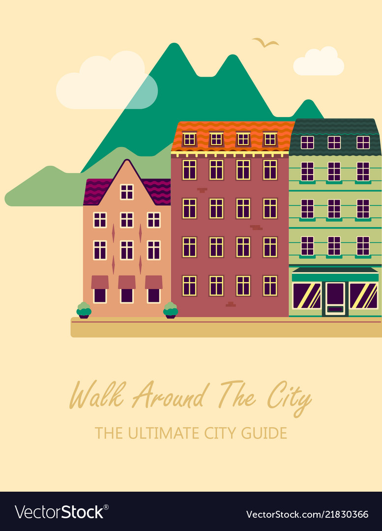 Concept for city guide beautiful town houses