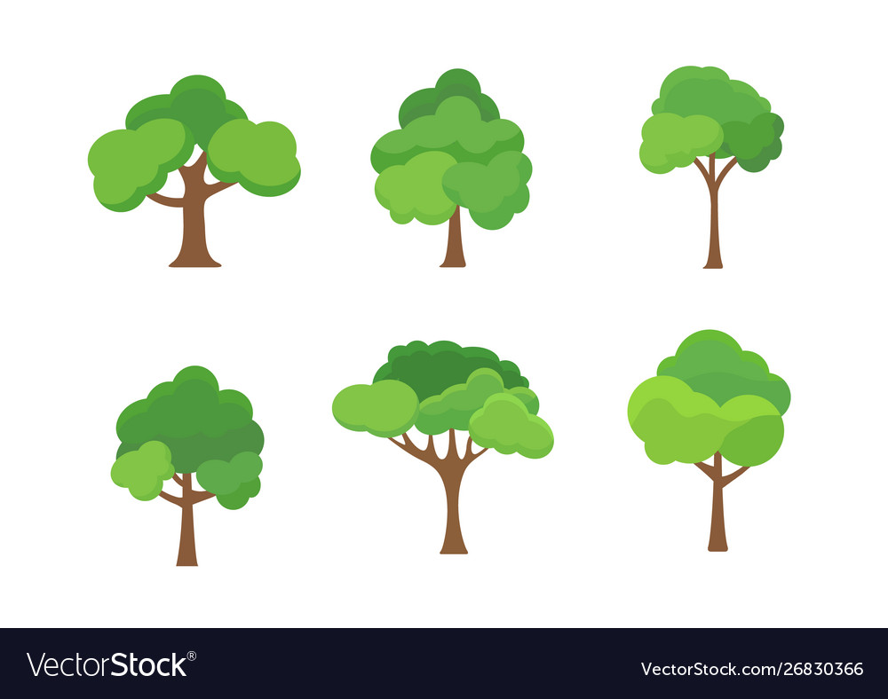 Flat tree icon trees forest simple