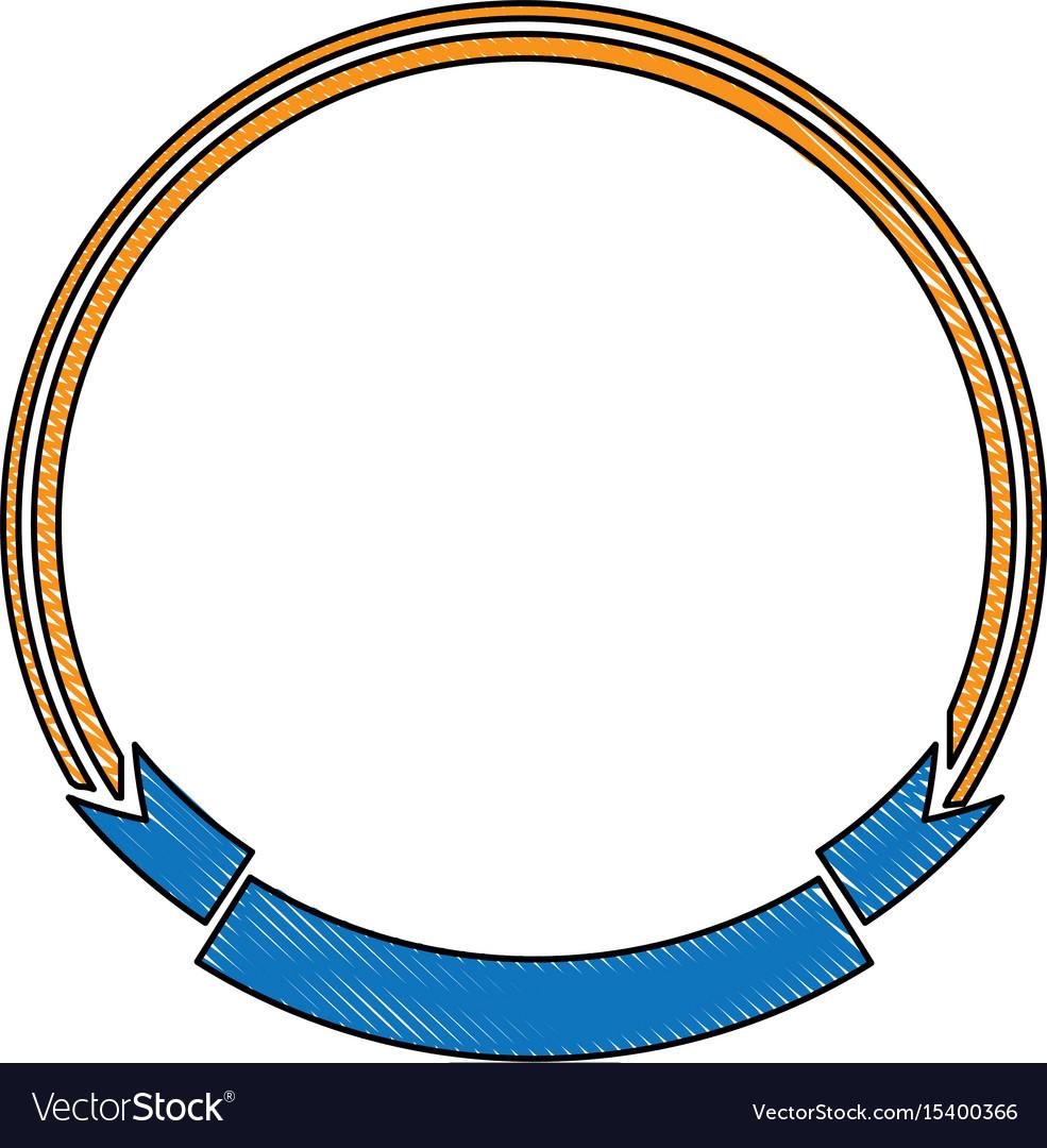 Label ribbon banner decoration badge blank vector image