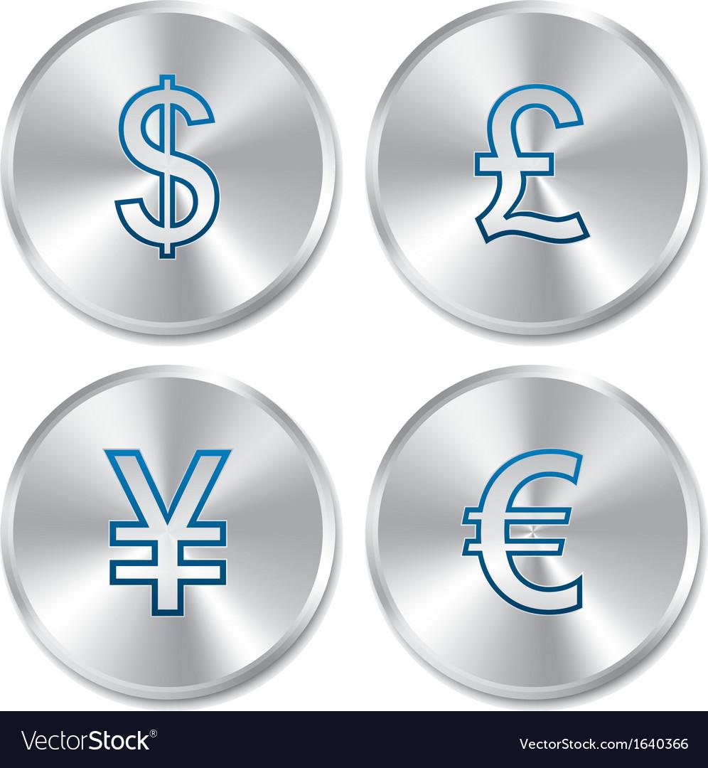 Metallic money buttons template set