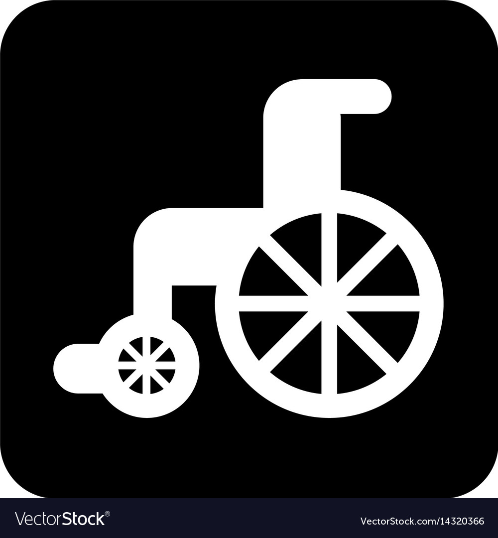 Wheelchair medical isolated icon