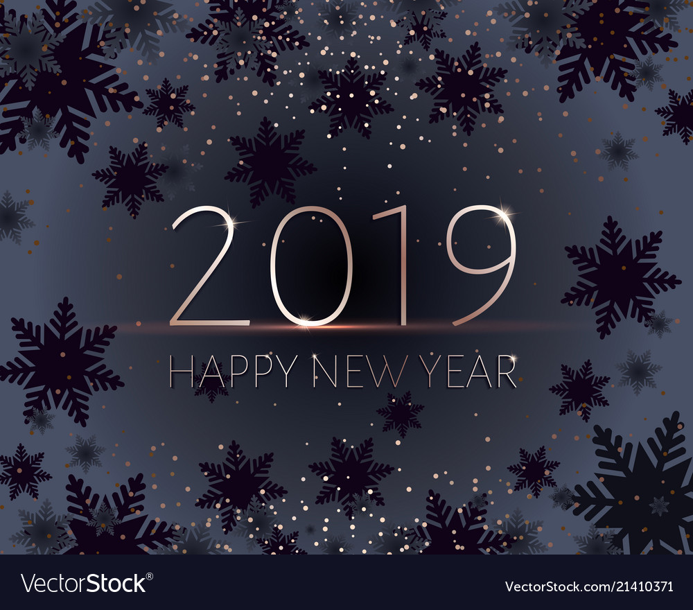Black new years banner gold 2019 inscription