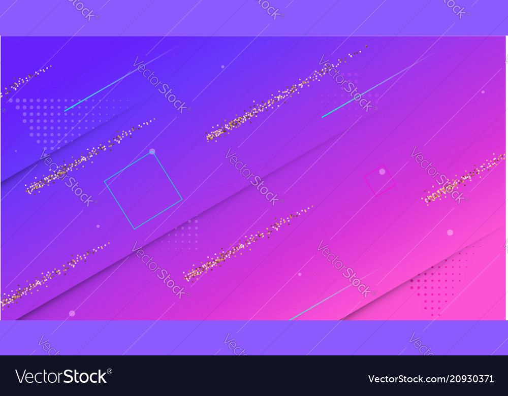 Cover with geometric colored shapes and sparkly