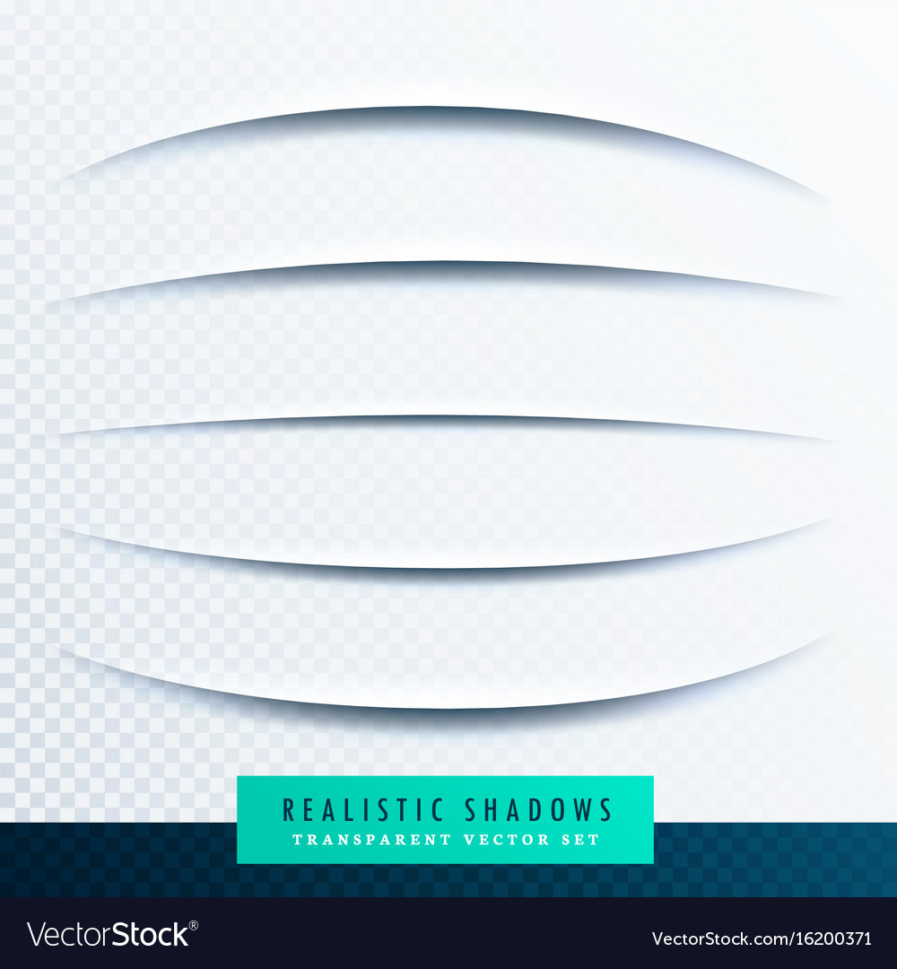 Curve paper shadows effect collection