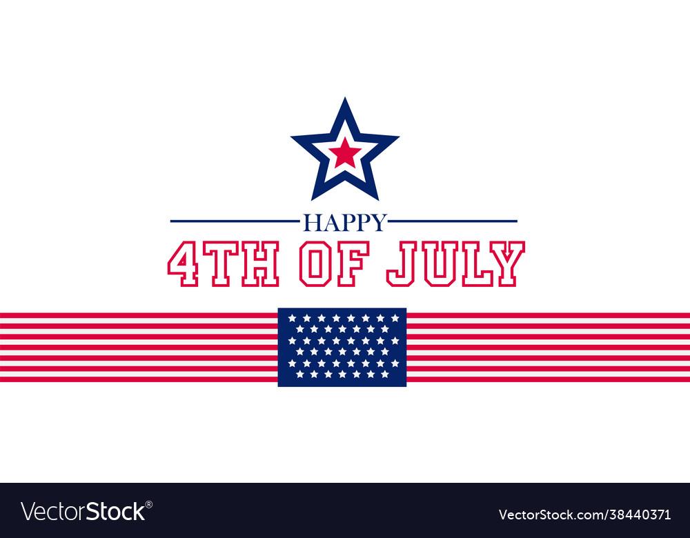 Happy 4th july fourth july design