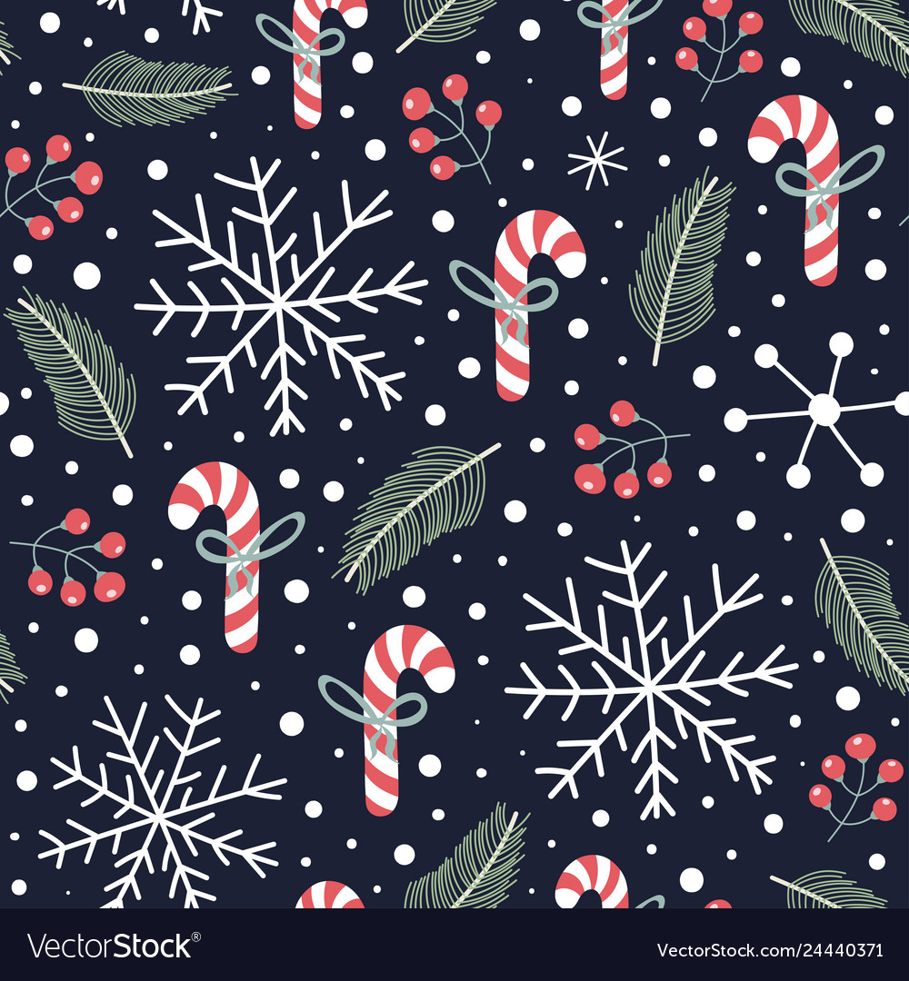 Holiday seamless pattern with christmas candies s