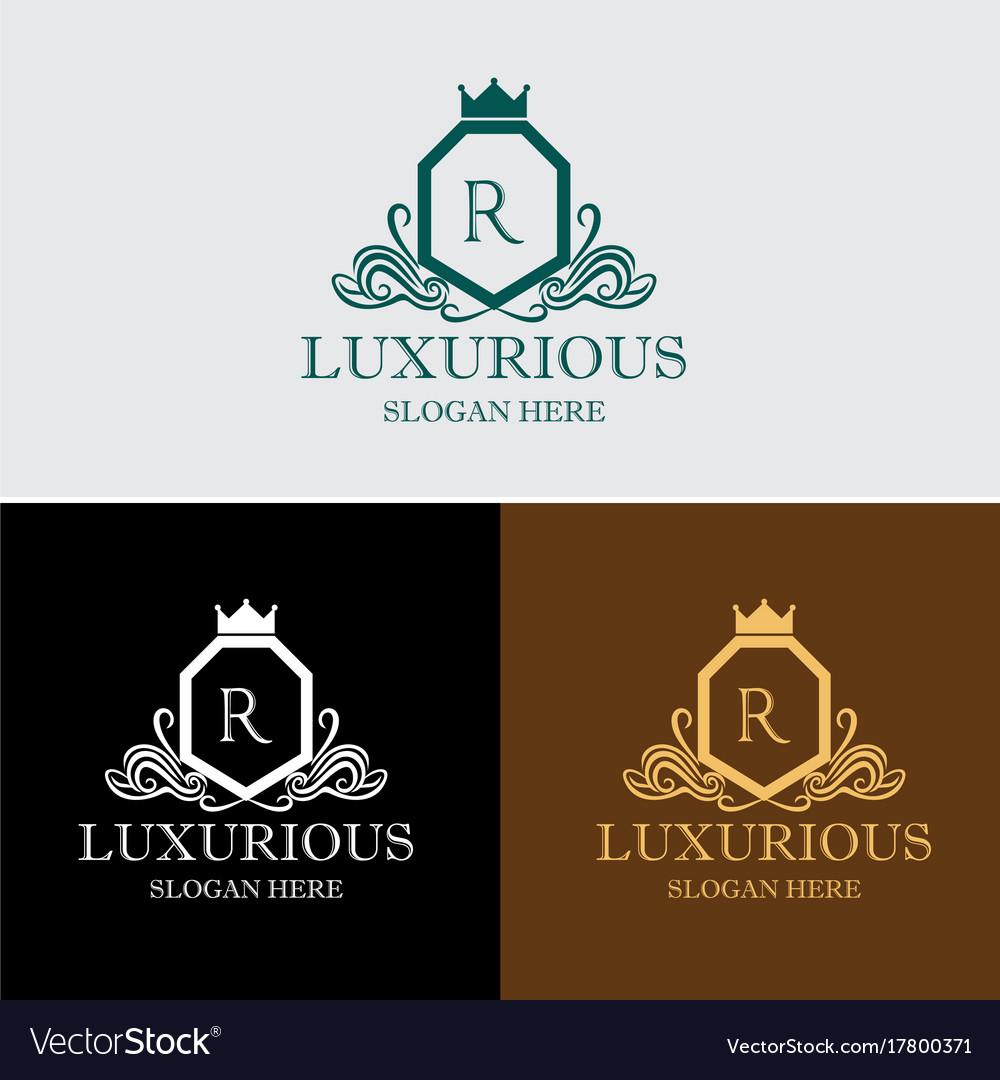 Luxurious crest logo
