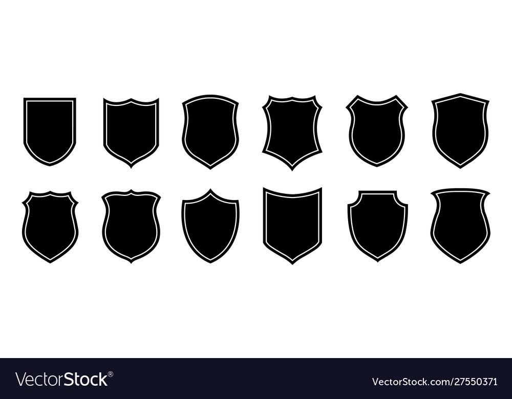 Police badge shape military shield