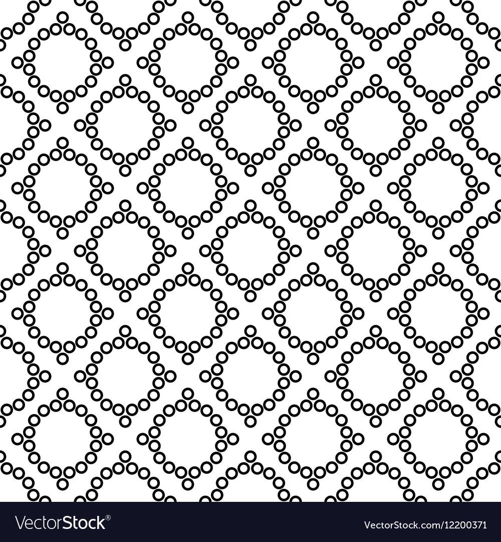 Polka dot and rhombus geometric seamless pattern