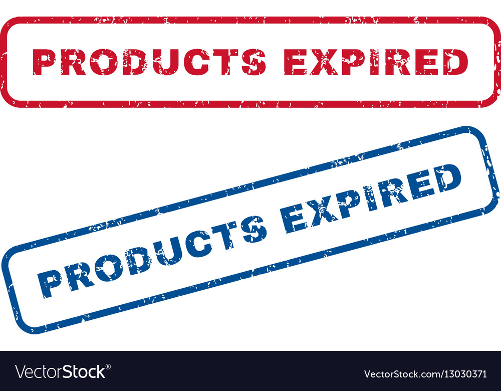 Products Expired Rubber Stamps