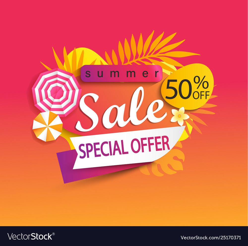 Summer sale special offer banner