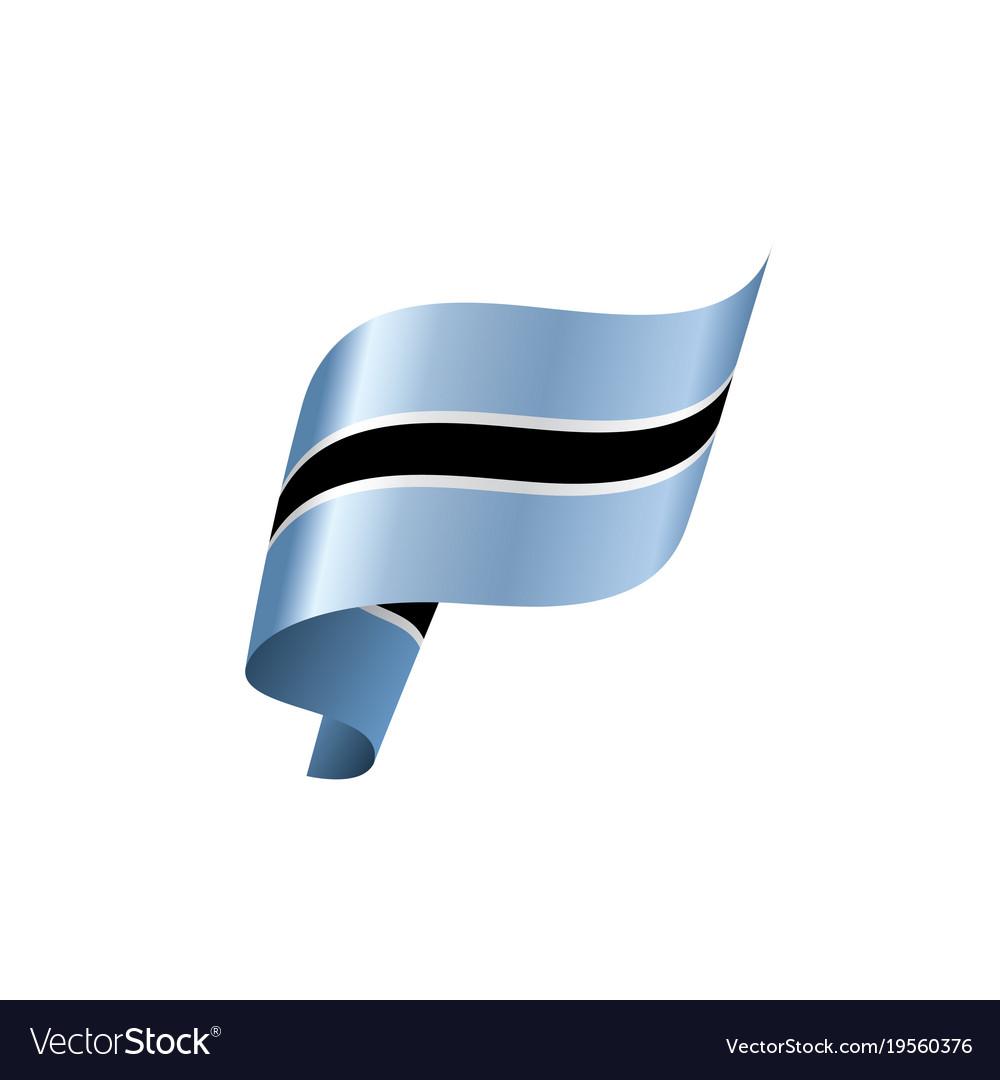 Botswana Flag Royalty Free Vector Image Vectorstock