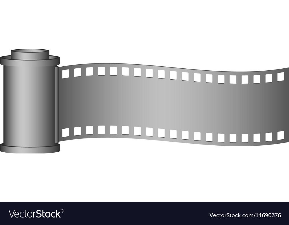 Camera roll film in grey design vector image