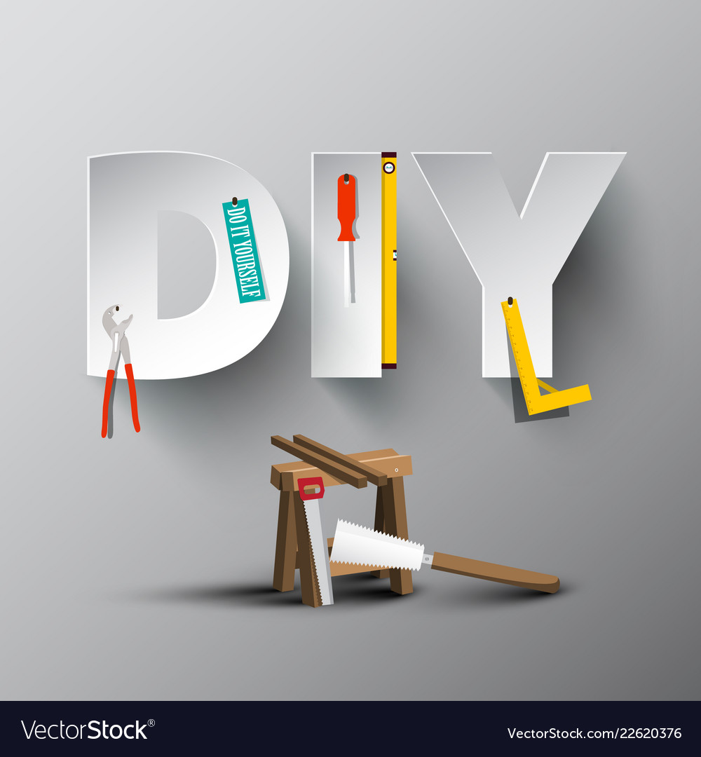 Diy - do it yourself paper cut letters with tools