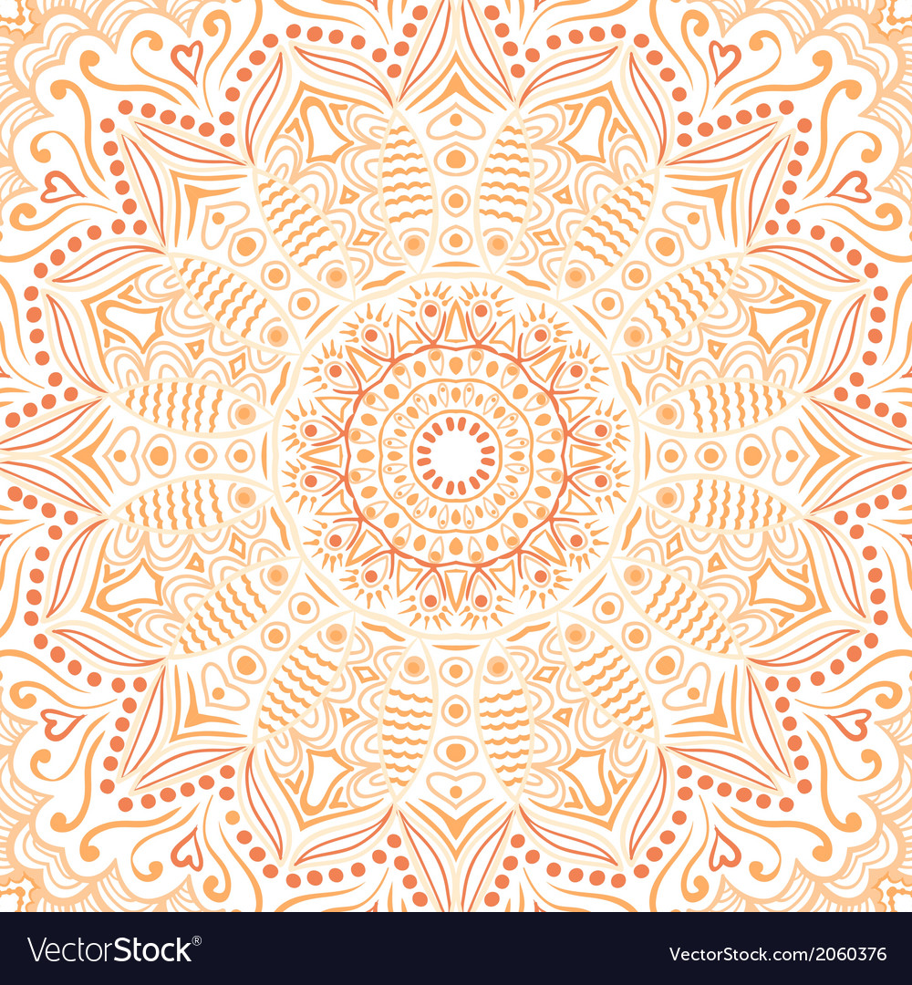 Ornamental lace pattern circle background with