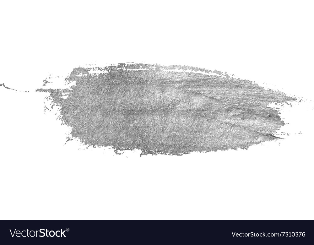 Silver stain isolated on white background vector image