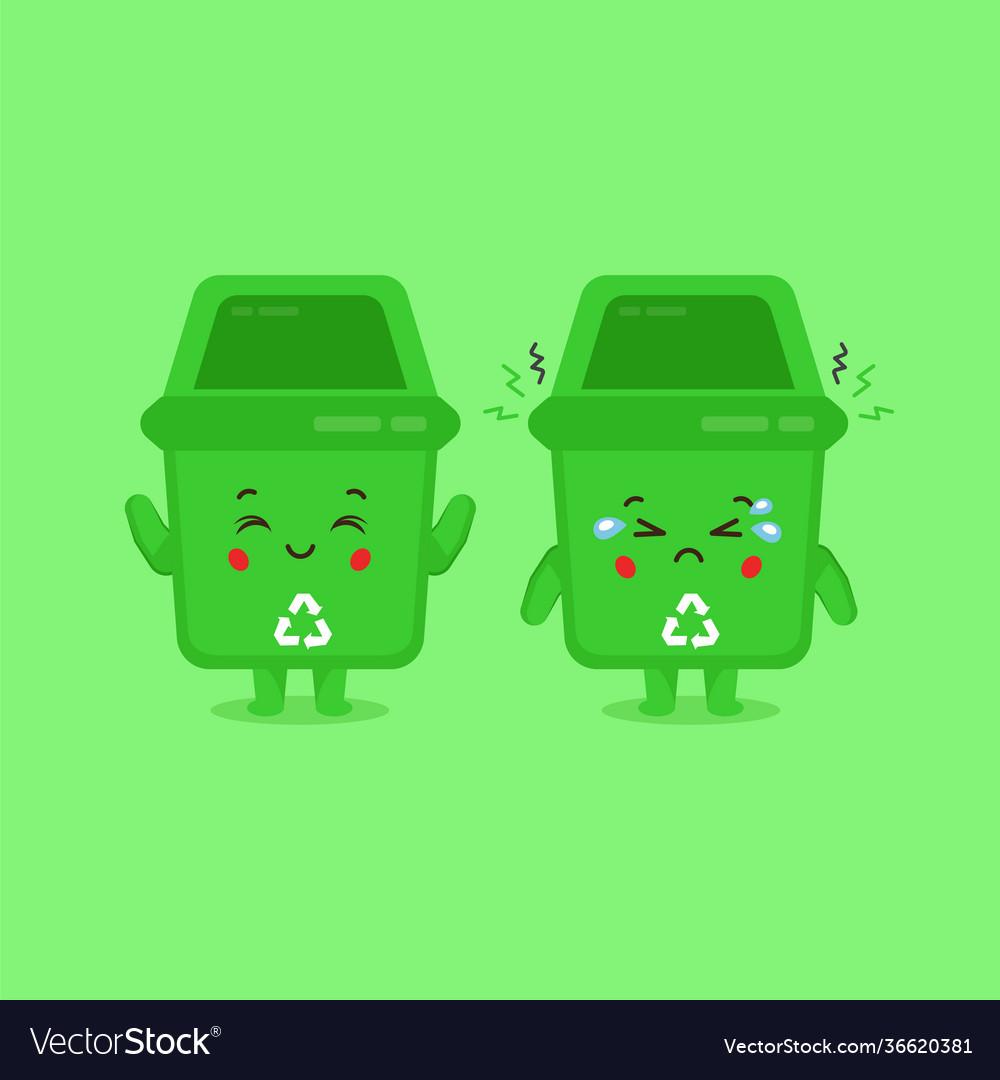 Sad Trash Can Vector Images 10