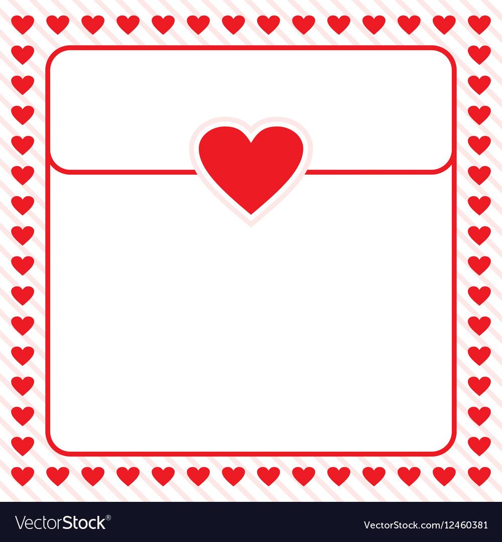 Frame border red heart design for valentine