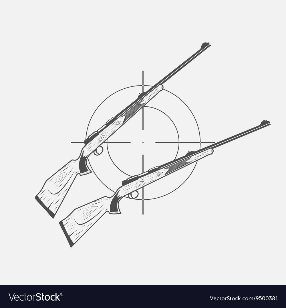 Guns and target rifle vector image