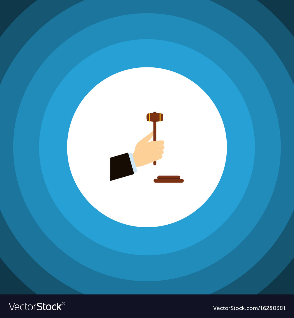 Isolated legal flat icon law element can