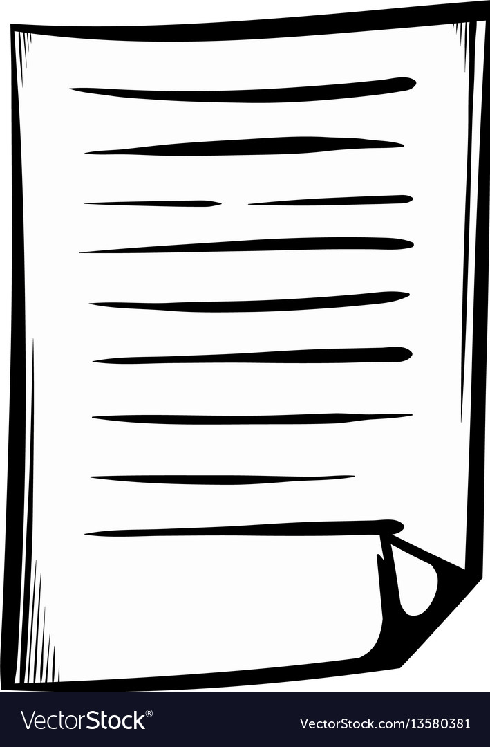 Lined paper icon cartoon