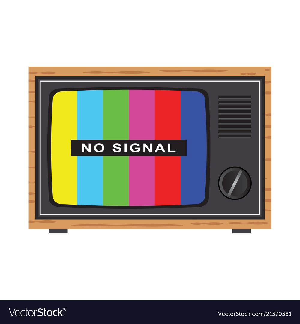 Retro tv with antenna no signal