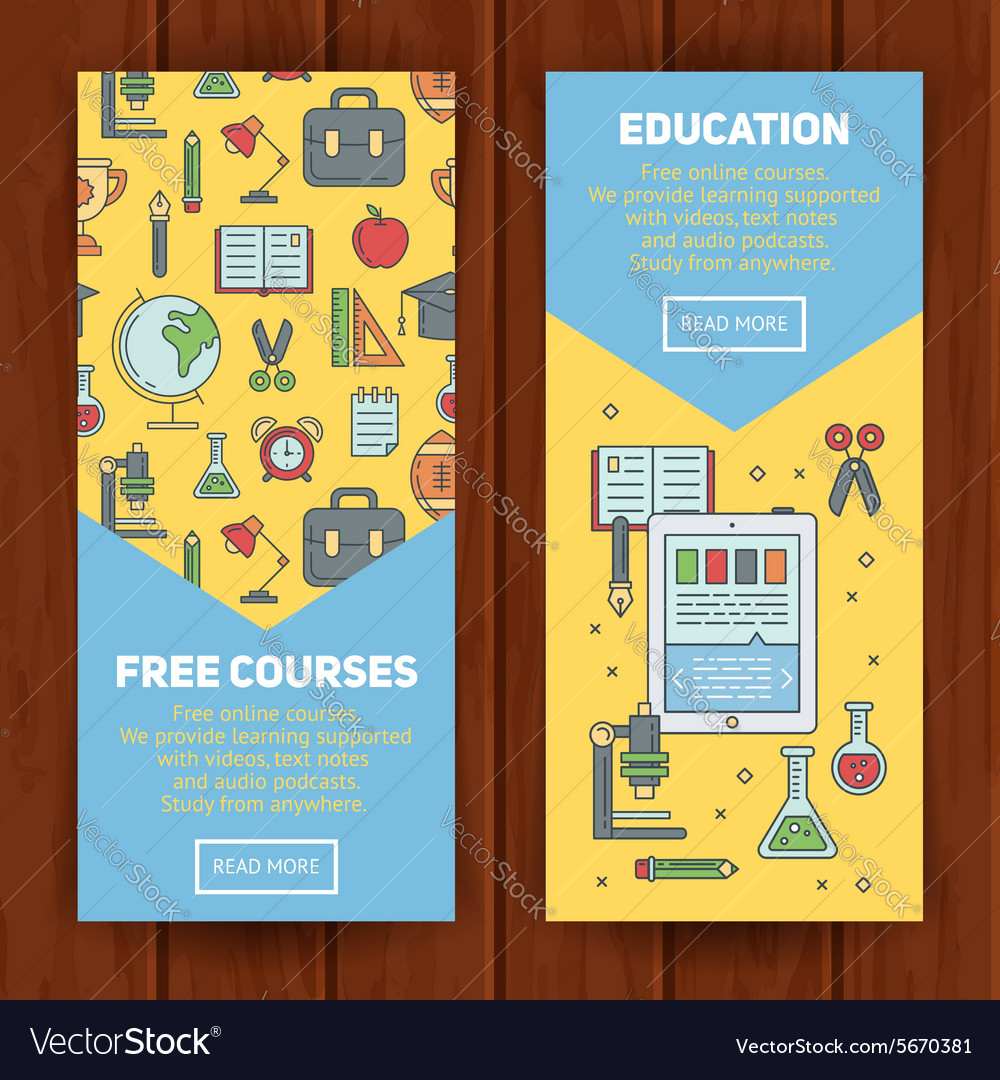 School Banners Templates Royalty Free Vector Image