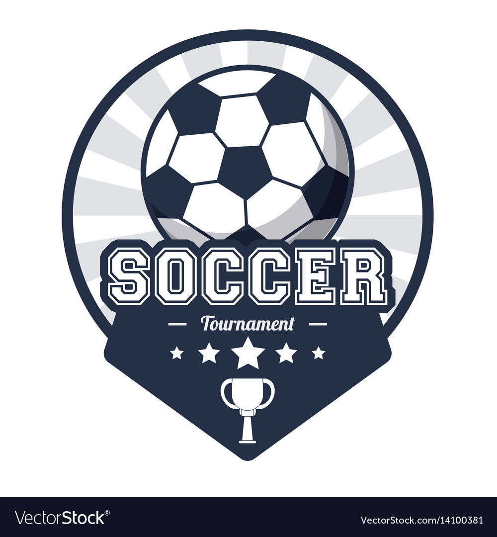Soccer sport tournament emblem image
