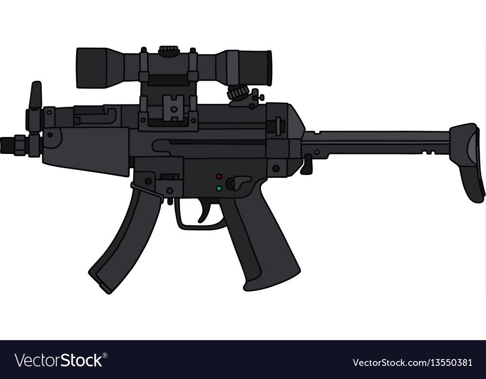 Submachine gun with an optical sight