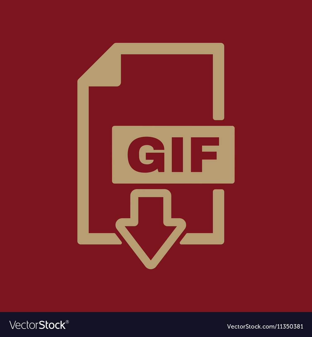 The GIF icon File format symbol Flat