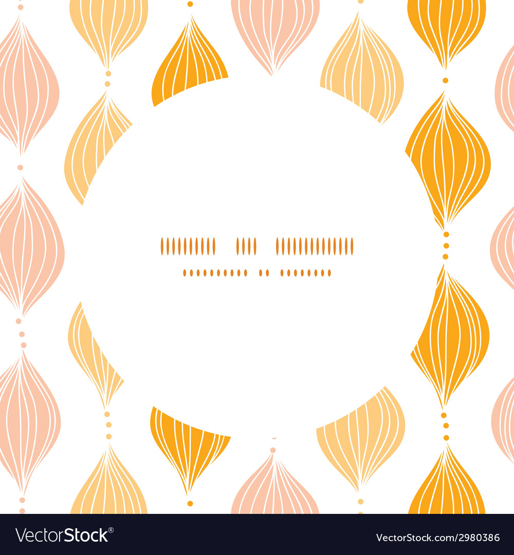 Abstract golden ogee circle frame seamless pattern