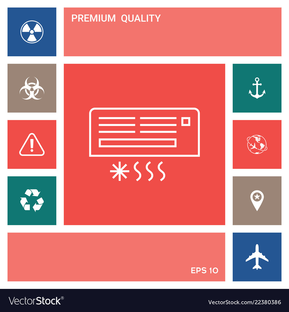 Air conditioning icon elements for your design
