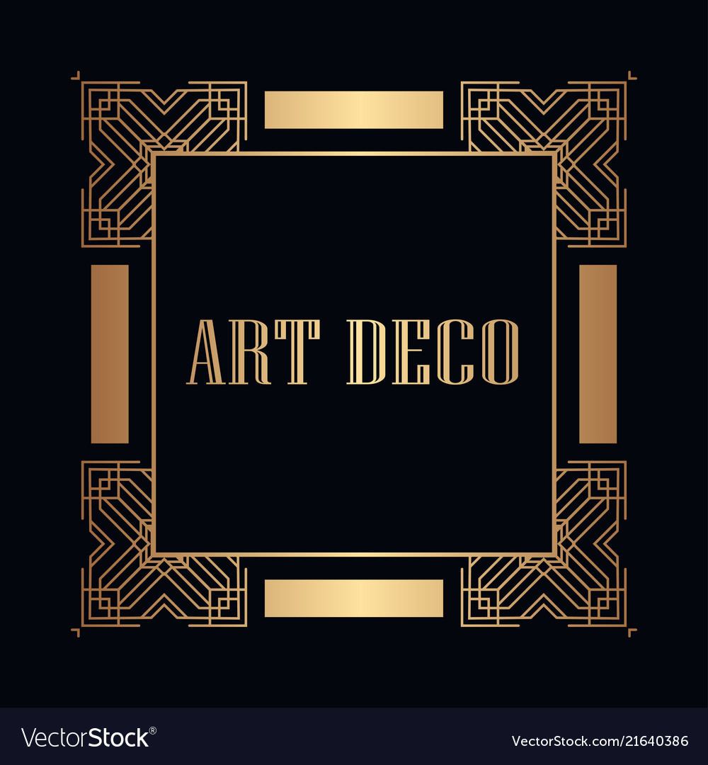 Art deco frame Royalty Free Vector Image - VectorStock