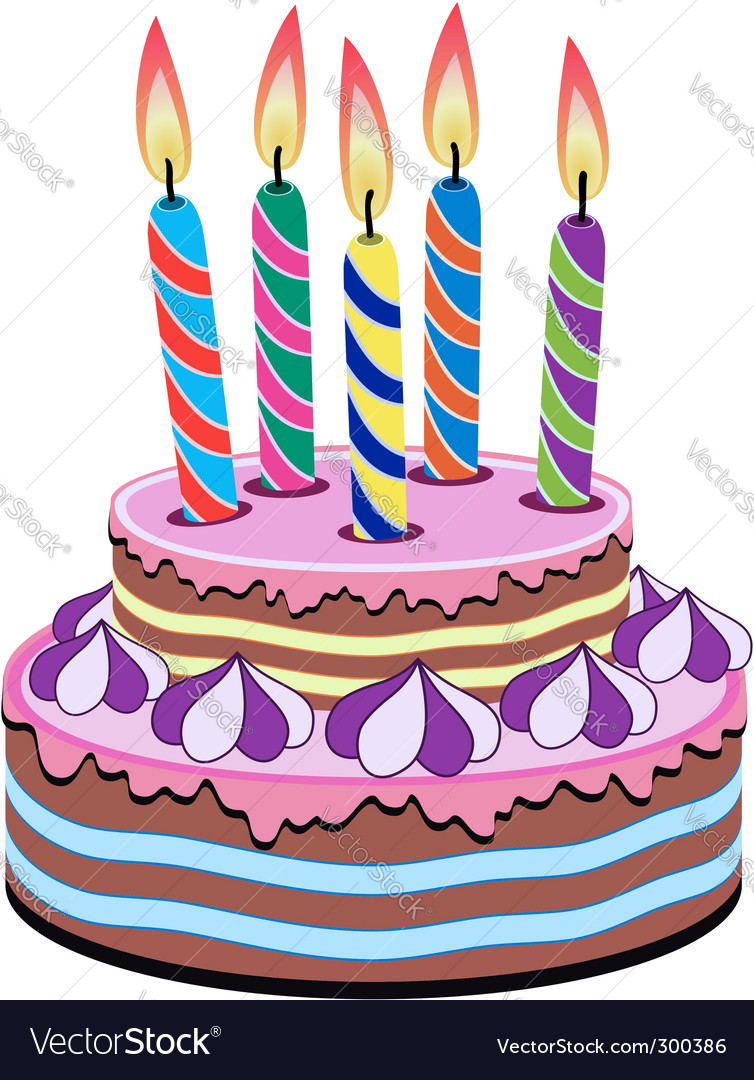 birthday cake royalty free vector image vectorstock rh vectorstock com cake vector png cake vector png