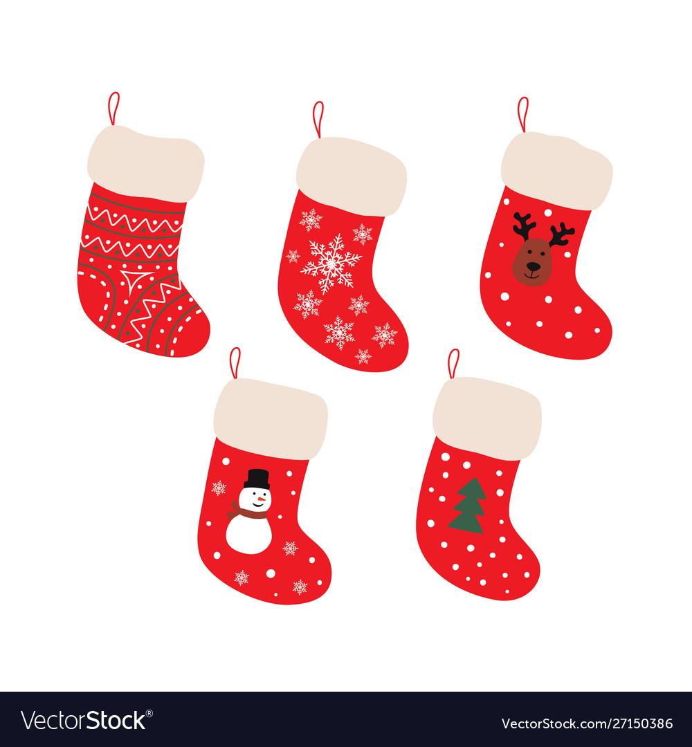 Cute christmas socks set - cartoon